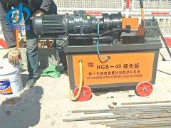 北京通州客户选择我们钢筋直螺纹滚机工地现场